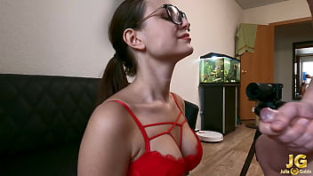 Brunette With Glasses Sucking My Cock - Homemade Porn