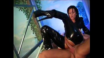 Slutty dominatrix Simone Style rides black dick reverse cowgirl