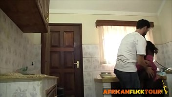Interracial fuck in the kitchen Thumbnail