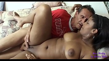 The young black maid is very sexy and the landlord fucks her pussy