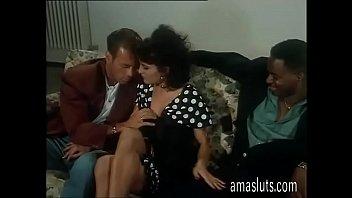 Cute brunette has a hot threesome with Rocco Siffredi