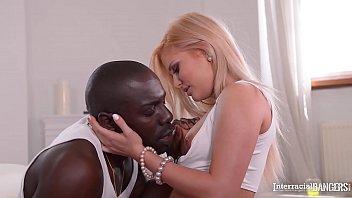 Interracial bangers go crazy as blonde yoga babe Candee Licious rides big black cock