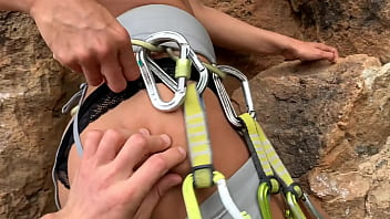 Sex during a sport climbing session with an amazing chick - Ocean Crush