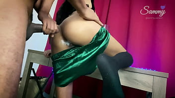 Amateur Anal Creampie at Daddy's Room (Ass to mouth)