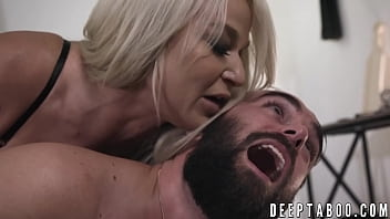 Taboo MILF rides after erotic spanking