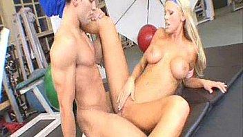 Sexy slut Tanya James gym fuck