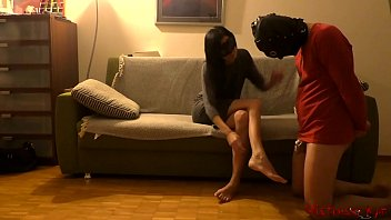 Wife let her sub out of his chastity cage after long tease