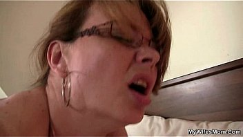 Horny m. inlaw riding his dick