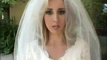 Blonde bride gets gang banged