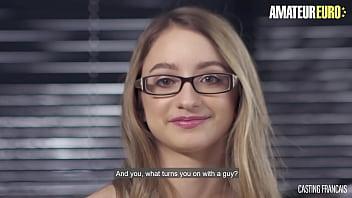 AMATEUR EURO - Shy Amateur Teen Rides Big Cock At Porn Audition