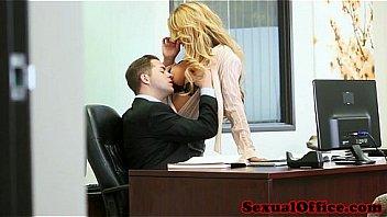 Busty deepthroat secretary making boss happy