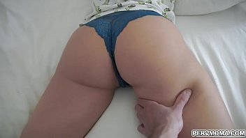 Sexy busty mom Britney Ambers lets her stepson fingers her tight milf cooch
