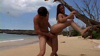 Erica og Ryan pa stranden...