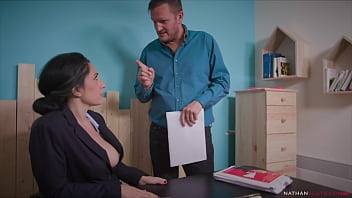 Hung Ian Scott Pounds His boss Eloa Lombard's Big Butt Hard After She Catches Him Watching Porn. Facial & cum swallow.