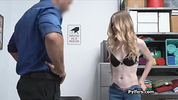 Blonde thief caught and fucked