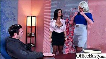 Sex Scene In Office With Slut Hot Busty Girl (Ava Addams & Riley Jenner) video-02
