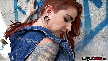 Redhead rocker chick assfucked in the ghetto Sheena Rose 2