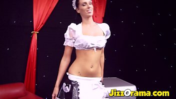 Cosplay of French Maid Nailed in 3some