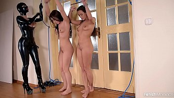 Latex Lucy Ass Fucks Mea Melone & Wendy Moon With a Strap-on