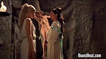 Ancient Roman lesbians fuck hard