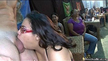Arousing show with stripper