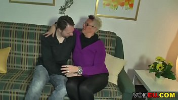 Chubby blonde German mature gets fucked hard