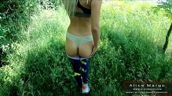 Sexy Babe in Yoga Panties and Outdoor Fucking! Cum on Ass! AliceMargo.com Thumbnail