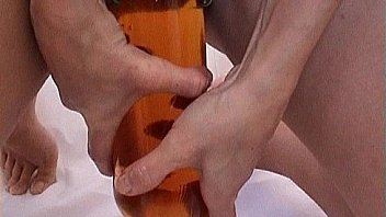 Huge Bottle Fucking Pussy. Deep Insertion Bottle in Big Cunt
