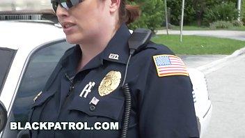 Black criminal fucks police patrol