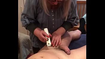 Granny shaving yong cock real