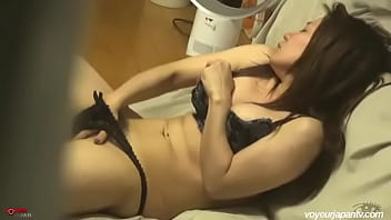 Young Japanese alone at home