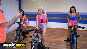 BANGBROS - Instructor Wants These Hot Babes To Cycle Naked, I Wonder Why?