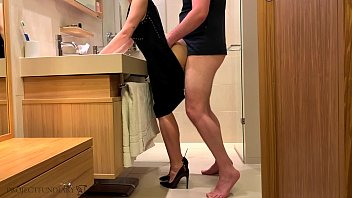 before a party - stepbro fucks me in my sexy bodycon dress doggystyle