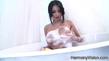 Beautiful brunette European goddess Anissa Kate getting anally fucked and cummed by a monster penis