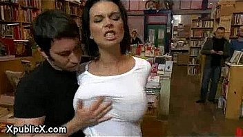 Girl let's hersel be fucked in book store