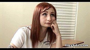Real amateur redhead teen pussy Violet Monroe 91