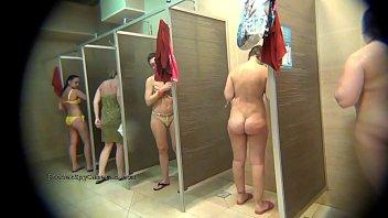Hidden cam caught women in public shower