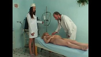 Pregnant cute girl riding her gynaecologist's hard prick