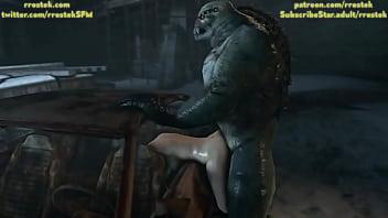 Resident Evil Monster fucking Zoe Baker hardcore 3D Animated