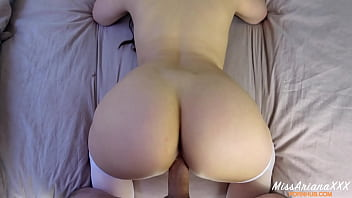 Amateur babe in stockings gets pounded POV
