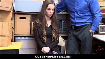 Young Petite Skinny Girl Tali Dova Doesn't Rat Out Boyfriend For Stealing Gets Fucked By Security Guard