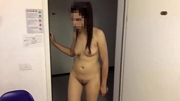 wife flashing in  hotel