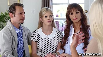 Megan Hollys foster family bonds in a private 3some session