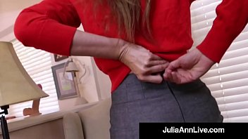 The Elegant Beautiful Milf Julia Ann Pounds Her Perfect Cougar Cunt with a Flesh Dick Dildo! The hot complete video will make you Cum like a Horse! Full Video & Live @JuliaAnnLive.com!