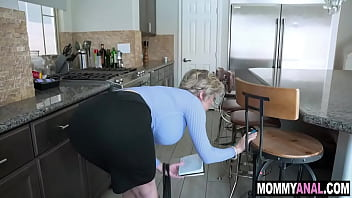 Big tits mature mom enjoys anal with her neighbor