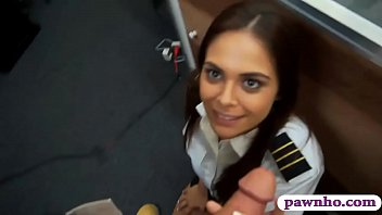 Latin stewardess boned by pawnshop owner