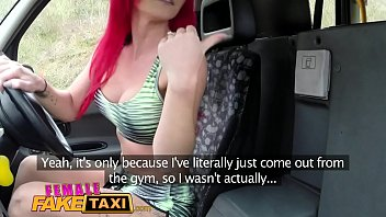 Female Fake Taxi Two busty chicks with wild hair and tattoos get naughty