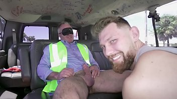 BAITBUS - Mature Straight Guy Goes Gay For Pay In A Van With Strangers