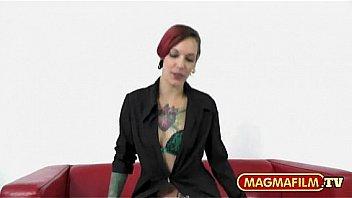 MAGMA FILM Blonde German slut in amateur gangbang