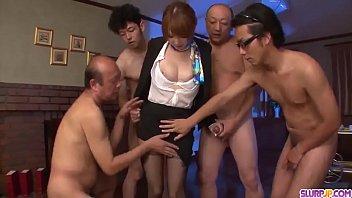 Hot japan girl Hikaru Shiina suck a dick and receive sperm